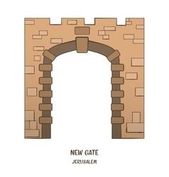 New Gate in Jerusalem vector