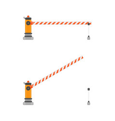 Open and closed car barriers vector