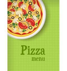 Pizza green menu vector