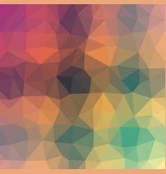 Polygonal background in burnt orange sea green vector