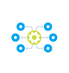 Process automation icon vector