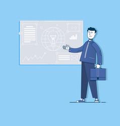 project management digital marketingflat vector image
