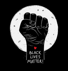 protest poster with text black lives matter vector image