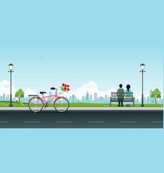public park vector image