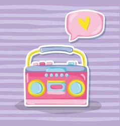 Punchy pastels vintage radio vector