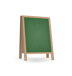 realistic blank board for menu announcement vector image