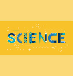 science banner typography and background vector image