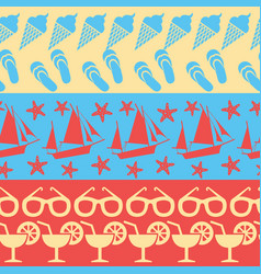 sea and summer seamless borders vector image