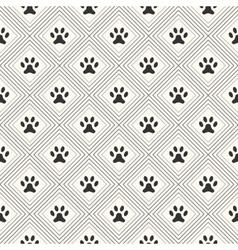 seamless animal pattern paw footprint in vector image