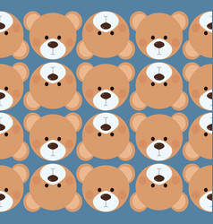seamless pattern background tile - cute teddy bear vector image