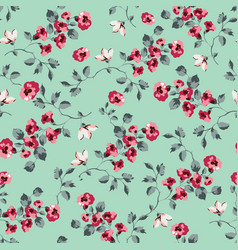 seamless pattern design with little forget me not vector image