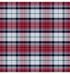 seamless pattern Scottish tartan black vector image