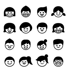 Smiley face happy face icons vector
