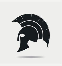 Spartan helmet icon vector