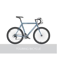 Trekking bicycle configuration vector