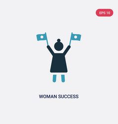 two color woman success icon from seo and web vector image
