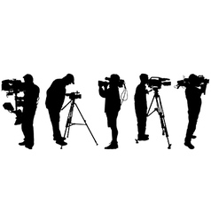 Video cameramen vector