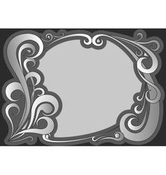 Vintage gray frame vector