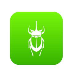 Weevil beetle icon digital green vector