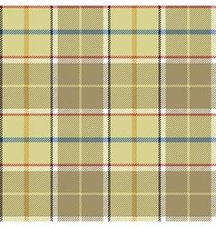 Beige tartan fabric texture seamless pattern vector image
