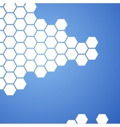 blue hexagons background vector image vector image