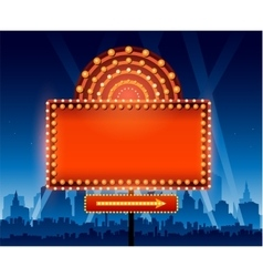 Brightly theater glowing retro cinema neon sign in vector image vector image