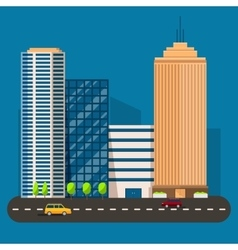 business smart city life concept Capital vector image