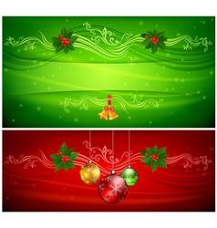 Christmas balls ornament vector image vector image