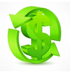 Dollar symbol vector image vector image
