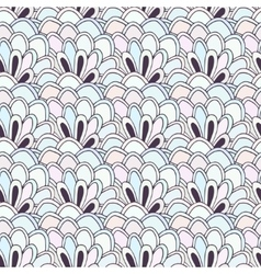 Doodle seamless pattern with flowers vector image