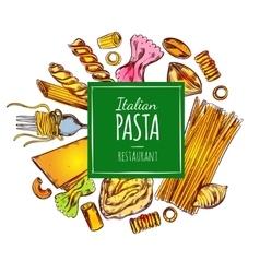 Italian Pasta Restaurant Label vector image