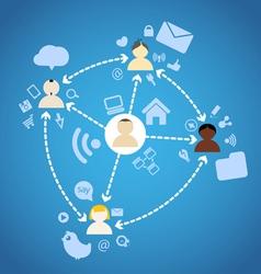 Social Network Diagram vector image