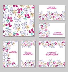 bouquets backg set vector image
