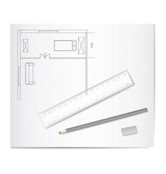 drawing architecture vector image
