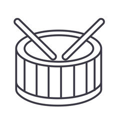 drums line icon sign on vector image vector image