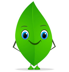 Funny leaf vector image vector image