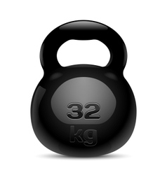 Kettlebell Isolated vector image