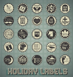 Set Mix of Holiday Labels vector image