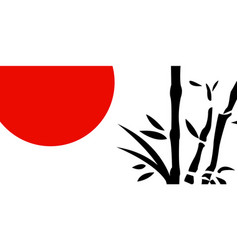 traditional japanese painting vector image vector image