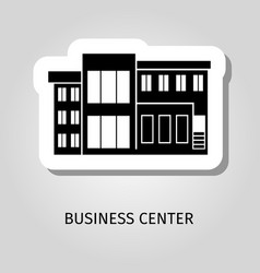 business center black building sticker vector image vector image