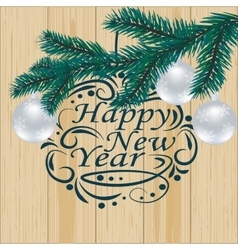 Christmas New Year festive labels for postcards vector image vector image