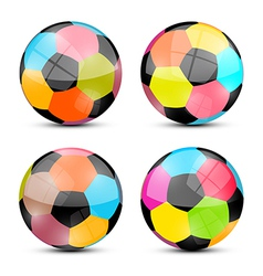 Colorful Football Balls Set vector image vector image
