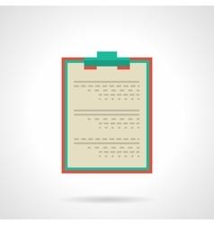 Doctor clipboard flat color icon vector image vector image