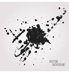 grunge background with black splash vector image