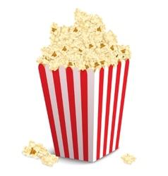 Popcorn box isolated vector image