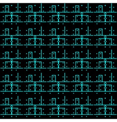 printed circuit board pattern eps10 vector image