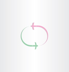 airplane fly in circle icon vector image