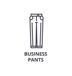 business pants line icon outline sign linear vector image vector image
