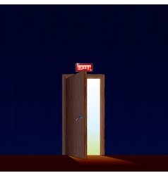 exit from dark room vector image vector image