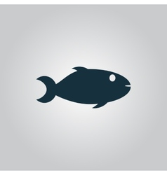 Fish icon on white background vector image vector image